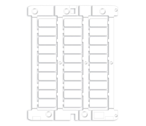PVC tag 15 x 27mm White