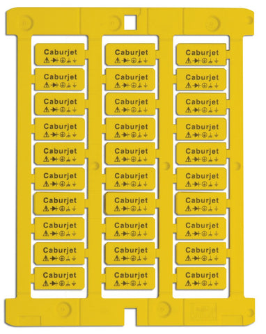 Label yellow adhesive 12 x 105mm