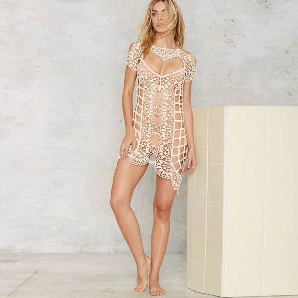 Summer Dress Women Lace Bathing Suit Cover Dress - groomin101