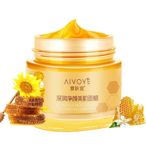 AFY Honey Milk Face Wax Extract Mositurizing Exfoliate Blackheads remove Pore refine Firming Brightening Face Wax - groomin101