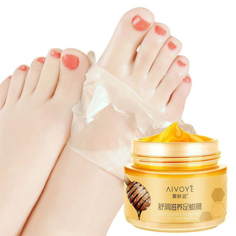 AFY Milk Honey Feet Mask Paraffin Wax Feet Care Moisturizing Whitening Skin Care Exfoliating Calluses Film Cream - groomin101