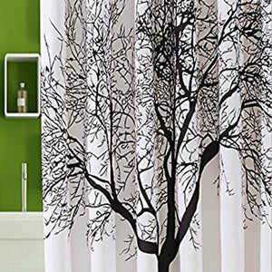 Mildew Resistant Shower Curtain Fabric 72x72 Tree Design Peva Curtain for Bathroom - groomin101