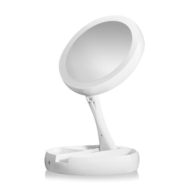 LED Lighted Makeup Mirror Adjustable Stand - groomin101