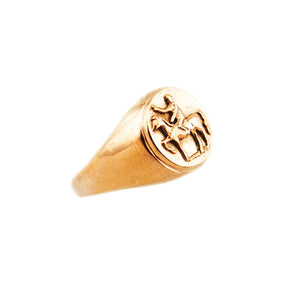 Tarras Horse Ring Rose Gold