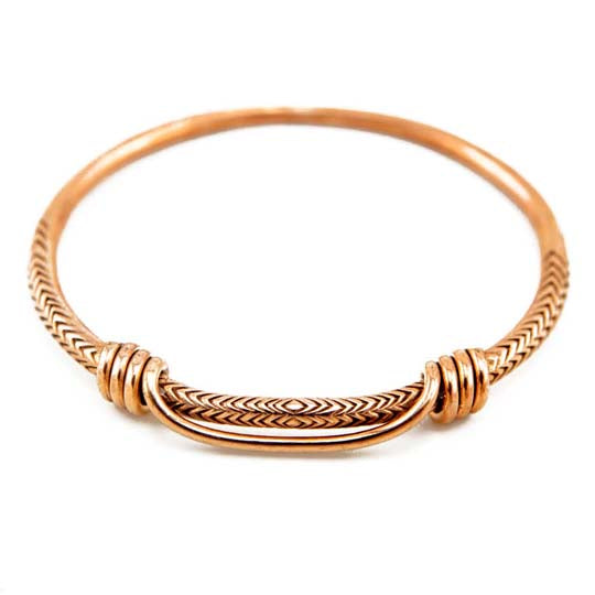 Ancient Snake Bracelet Rose Gold