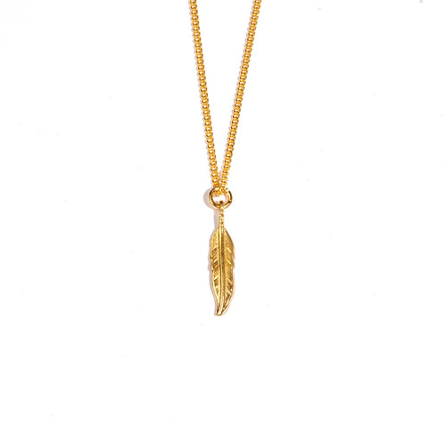 Feather Small Gold