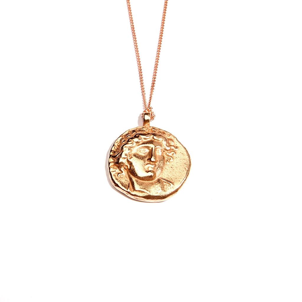 Ancient God of Sun 18k Rose Gold Coin