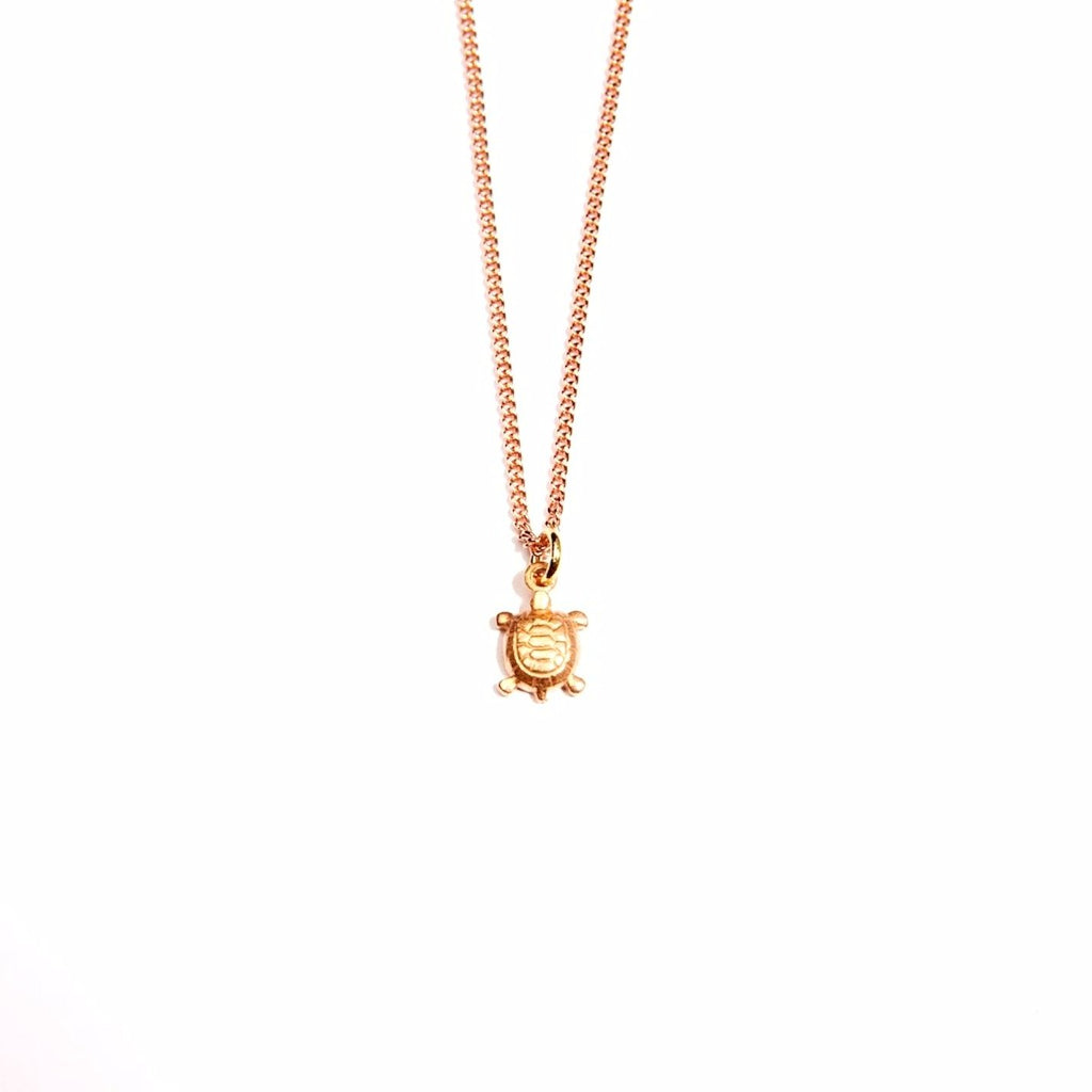 The Turtle for Good Luck 18K Rose Gold Plated