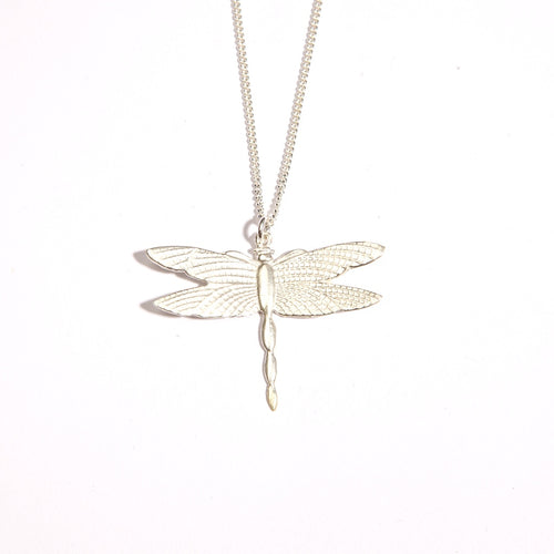 Dragon Fly Large Silver Plate