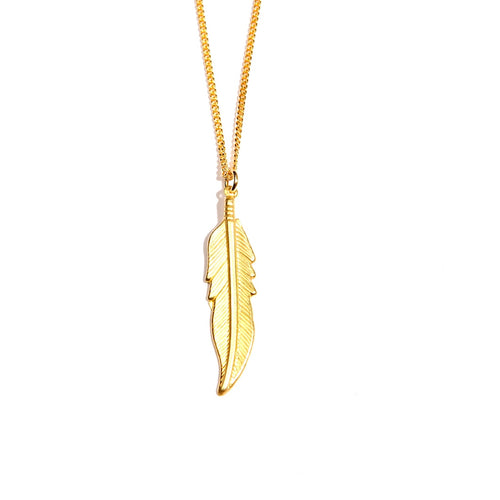Feather 24K Gold Plated Large