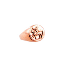 Tarras Horse Coin Ring Gold