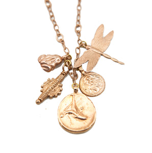 Franciska Journey Necklace Rose Gold, Rose Gold Tarras Coin