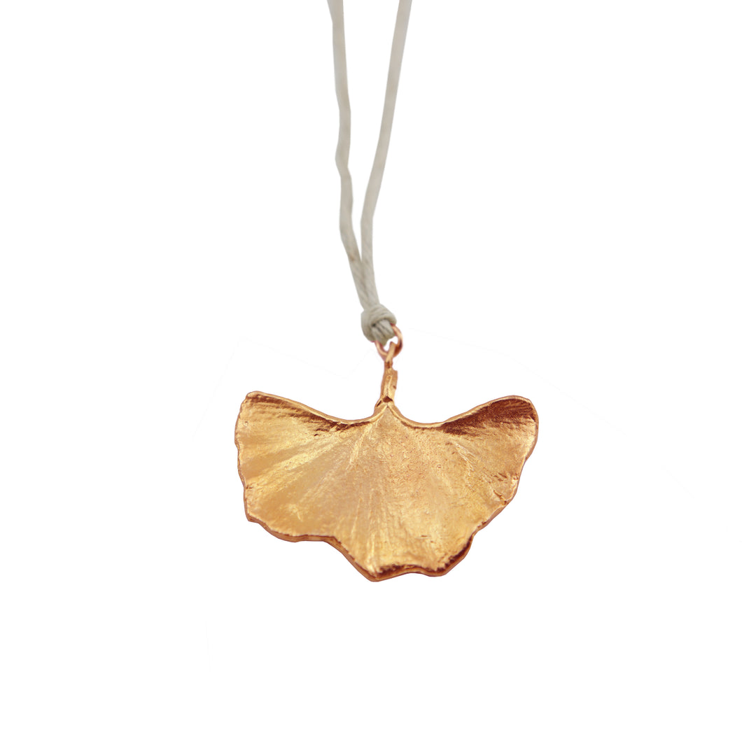 Gingko Large Rose Gold On Natural Hemp