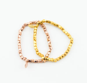 Bead Bracelet Rose Gold