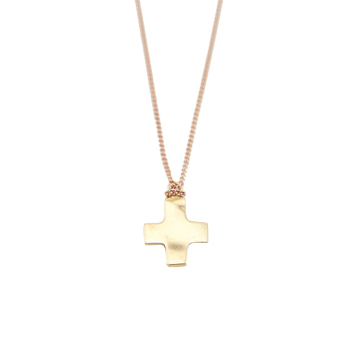 Cross with Peace Bird Rose Gold