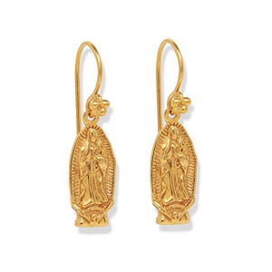 Guadalupe Maria Gold Plated Earring
