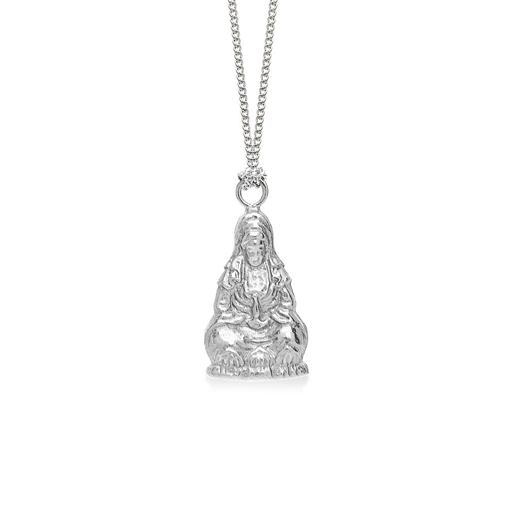 Quan Yin Goddess of Compassion Large Silver