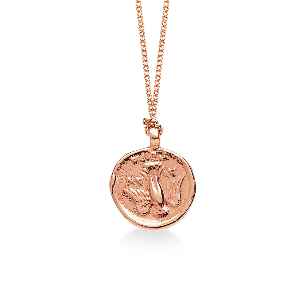 Ancient Goddess of Good Luck Coin Rose Gold
