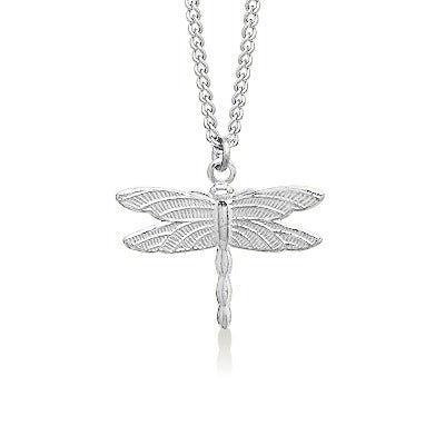 Dragon Fly Small Silver Plate 3