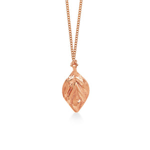 Leaf Embossed Rose Gold