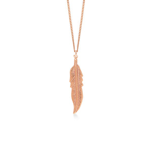 Feather 18K Rose Gold Plated Large