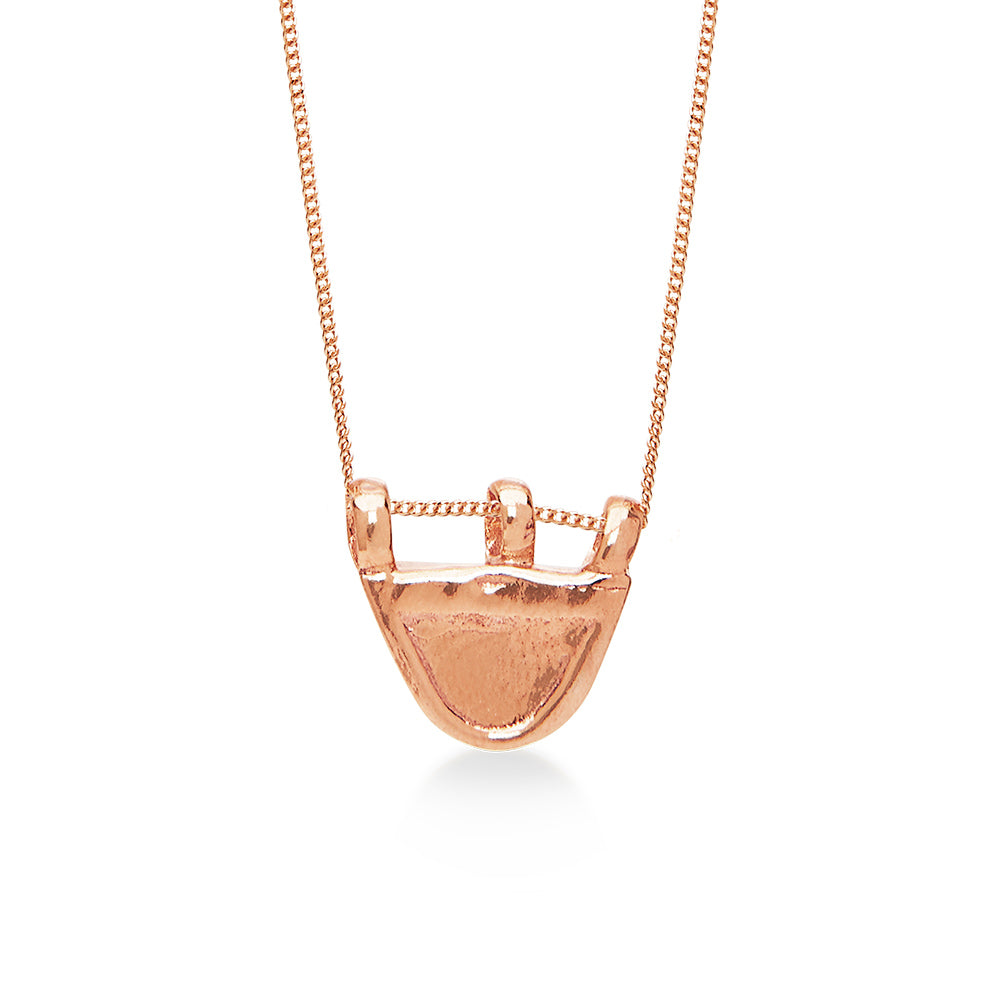 Ancient Oval Amulet 18K Rose Gold