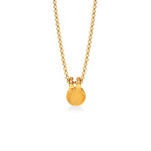 Coffee Bean Small Double Clasp Necklace Gold