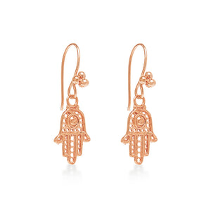 Hamsa Hand Earring Rose Gold