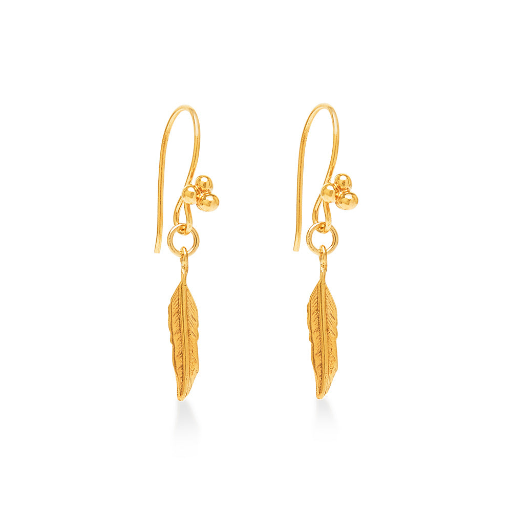 Gold Plated Feather Small