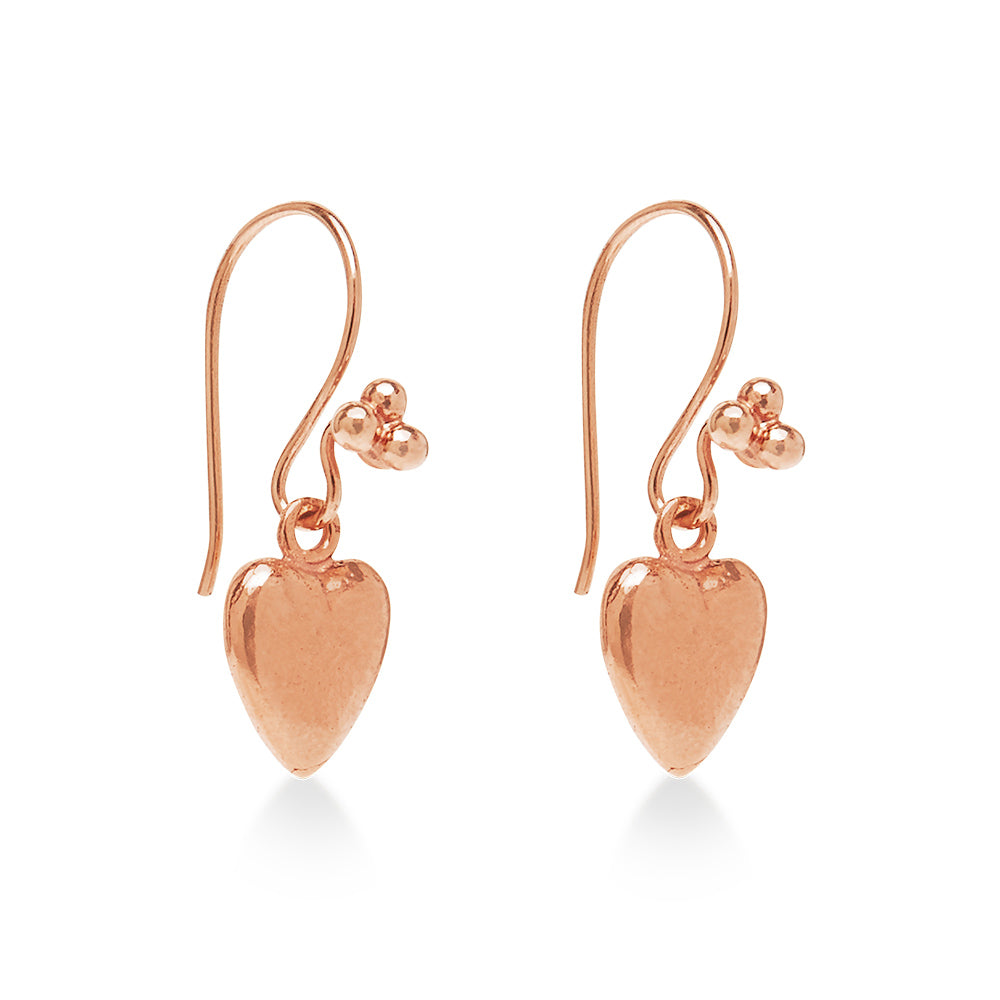 Love Hart Earring Rose Gold