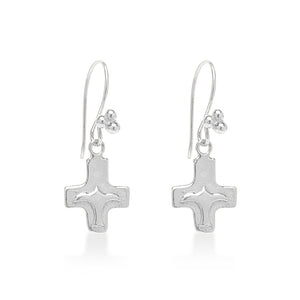 Peace Bird Cross Earrings