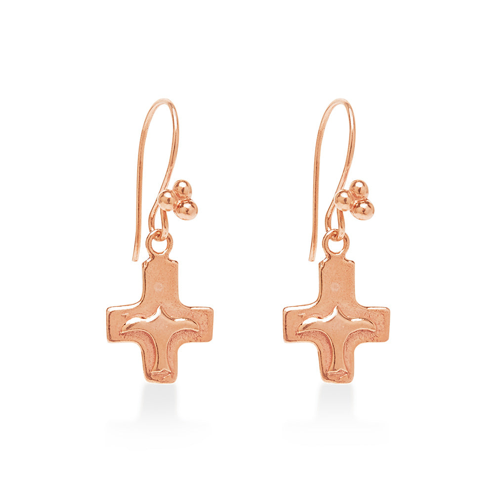 Peace Bird Cross Rose Gold
