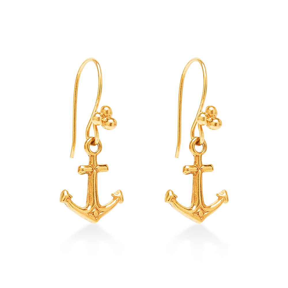 Anchor Earrings Gold
