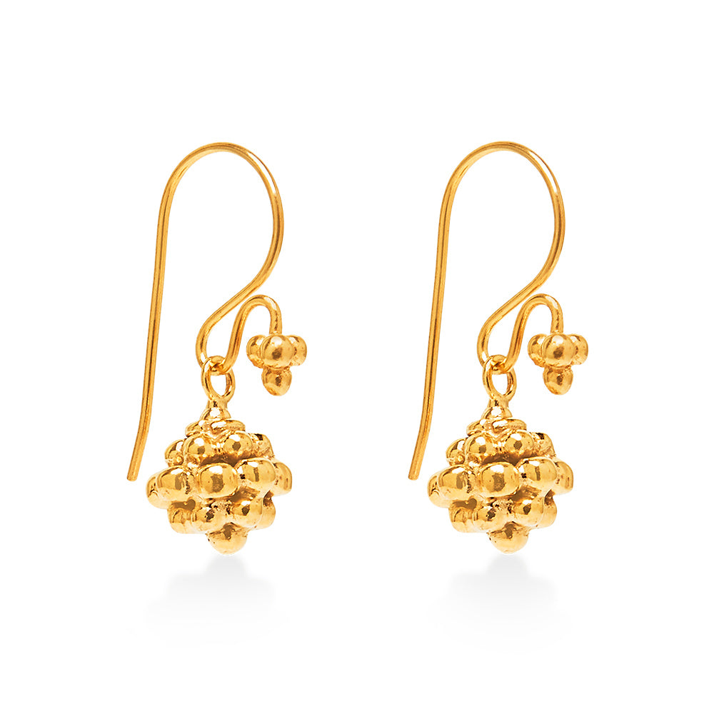 Ancient Jawan Bead Earring Gold
