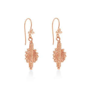 Indian Swirl Earring Rose Gold
