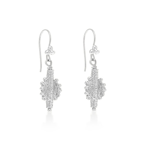 Indian Swirl Earring Silver