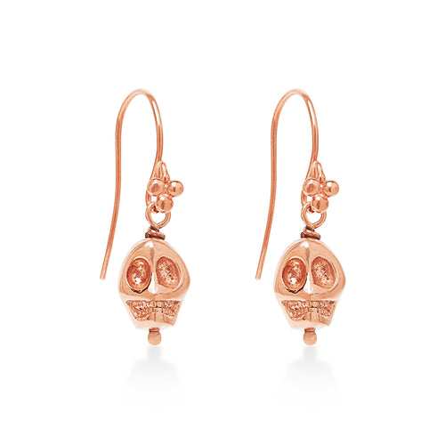 Skull Earrings Rose Gold