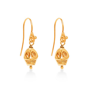 Skull Earrings Gold