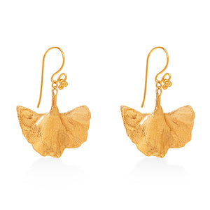 Gingko Earrings Gold