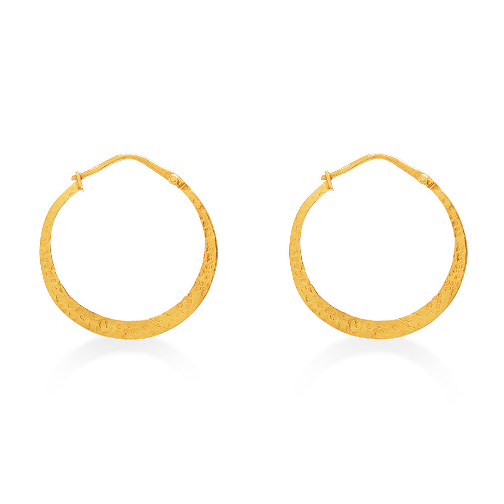 Hoop Zoe Earring Large Gold