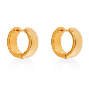 Hoop Fat  Earring Gold