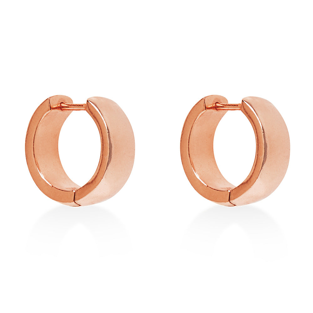 Hoop Fat Earring Rose Gold
