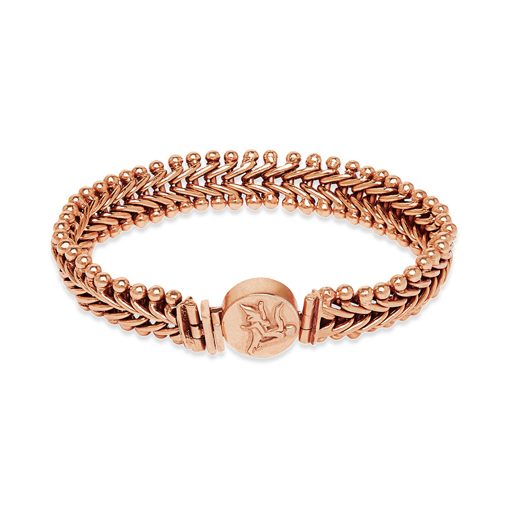 Ancient God of Sun Coin Bracelet Rose Gold