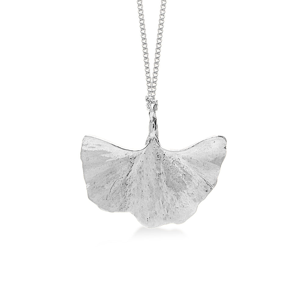 Ancient Gingko Leaf Silver