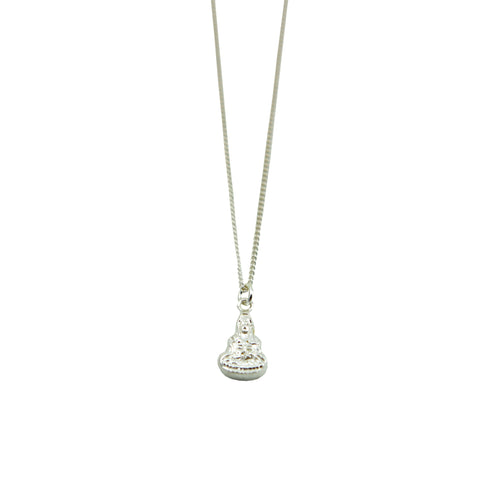 Buddha Silver Plated Necklace
