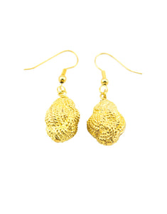 Gold Plated Nauticle Knot Earring