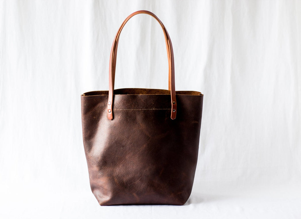 LARGE TOTE Henna Brown • Leather Everyday Bag
