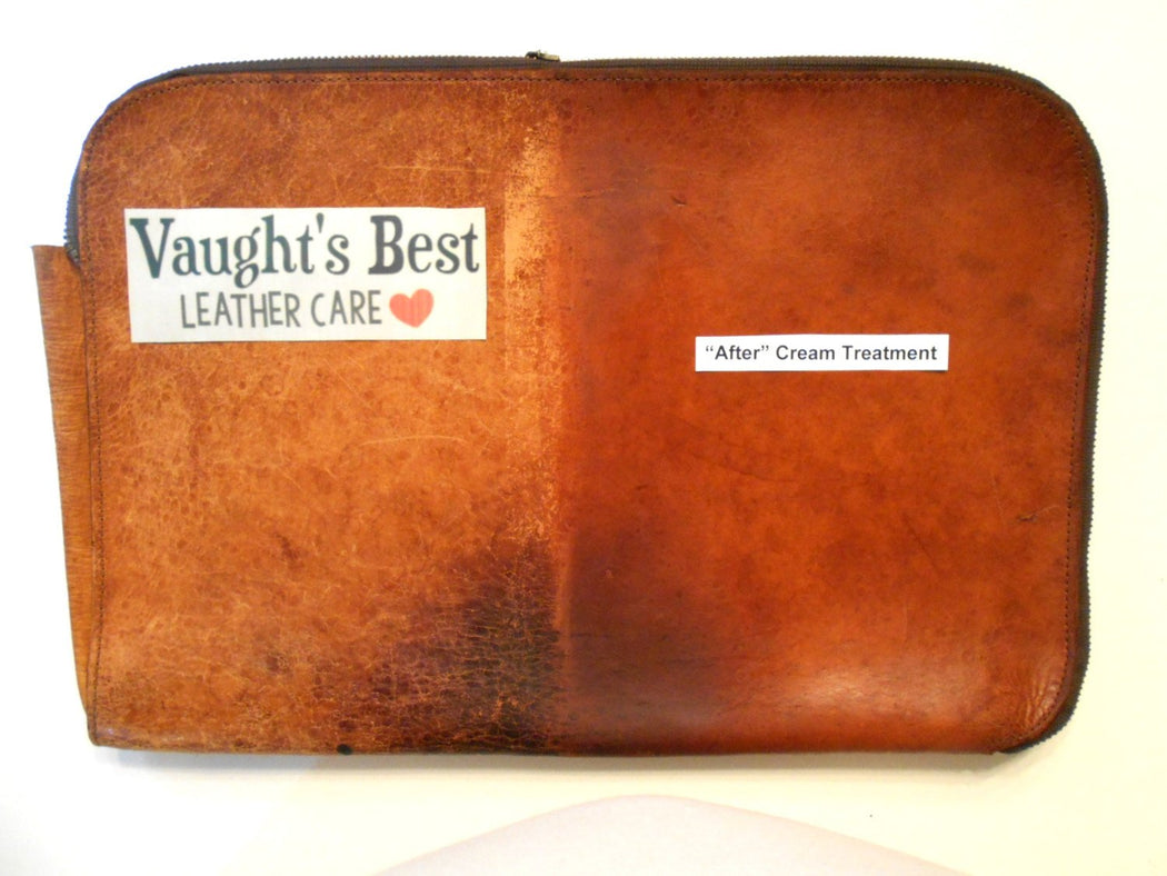 LEATHER CREAM Vaught's Best • 4 Oz Jar for Leather Apparel, Furniture, Auto, Shoes, Bags Waterproofing, Non-Toxic & USA Made