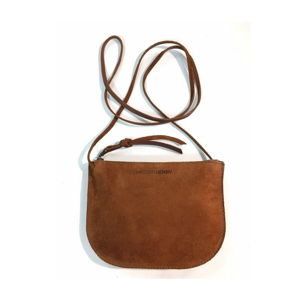LUNA CROSSBODY Rust Brown • Rough Out Suede Leather Bag
