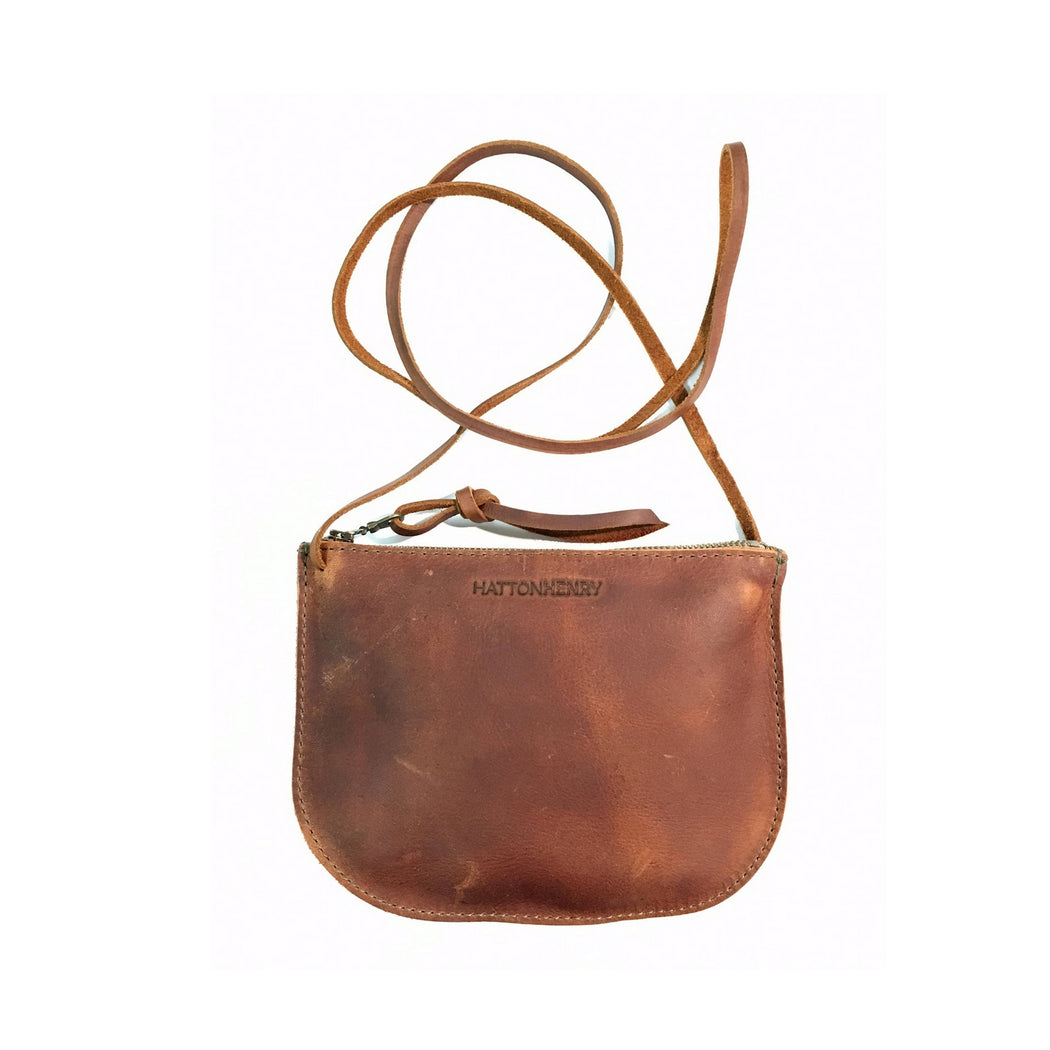 LUNA CROSSBODY Henna or Saddle Brown • Supple Leather Bag